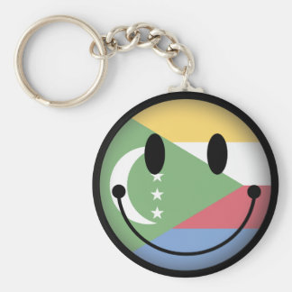 Comoros Smiley Keychain