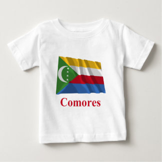 Comoros Waving Flag with Name in French Shirts