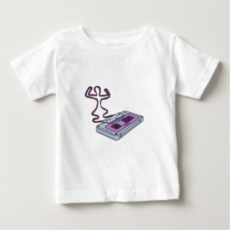 Compact Cassette Tape Raising Up Arm Mono LIne Baby T-Shirt