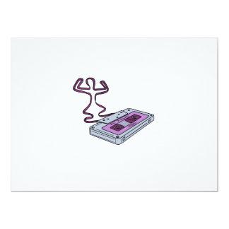 Compact Cassette Tape Raising Up Arm Mono LIne Card