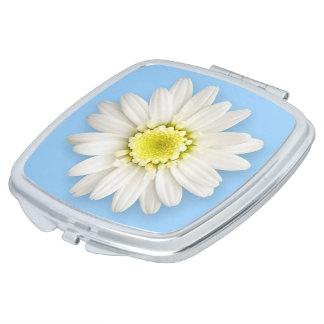Compact - Daisy on Blue Vanity Mirror
