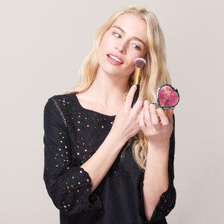 Compact - Heart - Dark Pink Gerbera Daisies Makeup Mirrors
