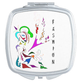 COMPACT MIRROR ABSTRACT FASHION MAKEUP MUSE
