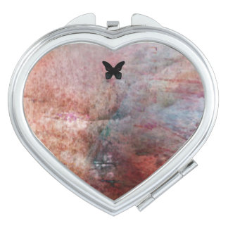 Compact mirror - black butterfly fog