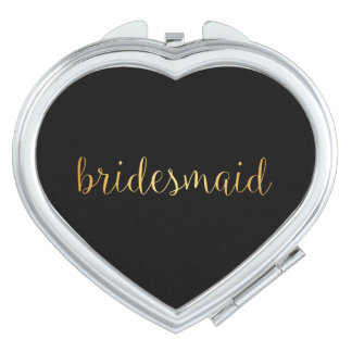 Compact Mirror - golden bridesmaid
