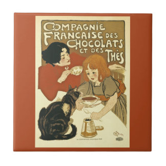 Compagnie Chocalats Vintage Advertisement French Tile