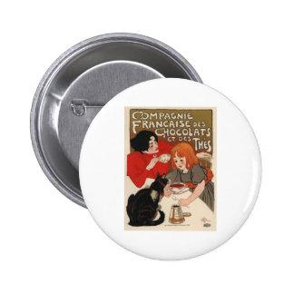 Compagnie Francaise Des Chocolats 2 Inch Round Button
