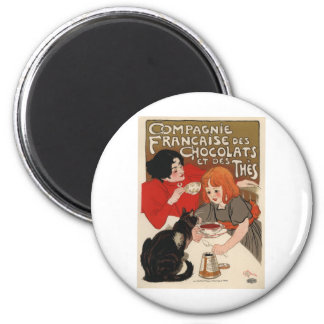 Compagnie Francaise Des Chocolats 2 Inch Round Magnet