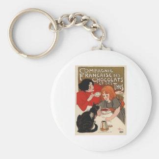 Compagnie Francaise Des Chocolats Basic Round Button Keychain