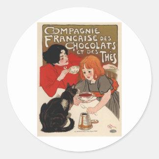 Compagnie Francaise Des Chocolats Round Sticker