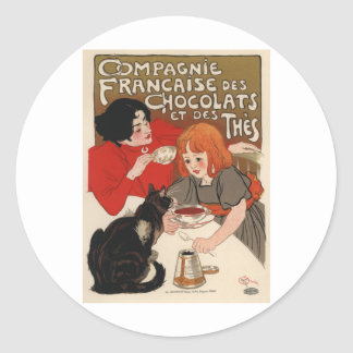 Compagnie Francaise Des Chocolats Classic Round Sticker