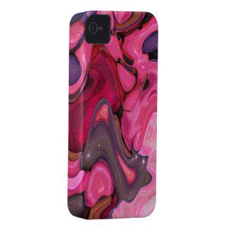 Compagnon abstrait de la caisse iPhone4 de pierres Étuis iPhone 4