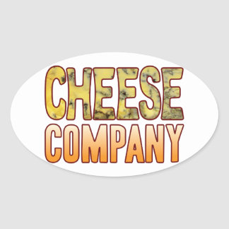 Company Blue Cheese Oval Sticker