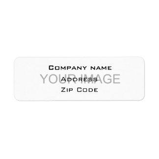 Company contact return address label