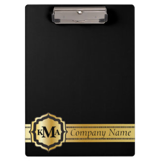 Company Gold & Black Style | DIY Text Clipboard