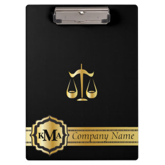 Company Monogram Style | Law | Lawyers | DIY Text Clipboards