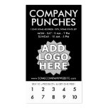 company punch card pack of standard business cards