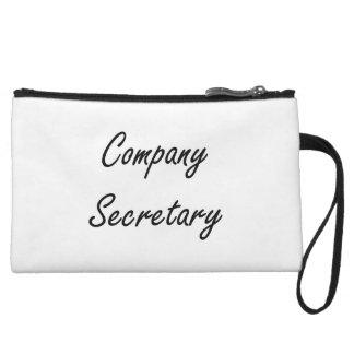 Company Secretary Artistic Job Design Wristlet Purses