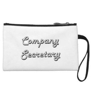 Company Secretary Classic Job Design Wristlet Purse