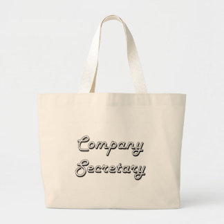 Company Secretary Classic Job Design Jumbo Tote Bag