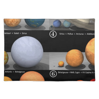 comparison placemat