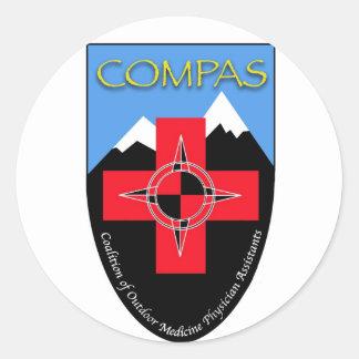COMPAS Round Sticker