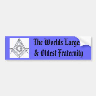 compas, The Worlds Largest & Oldest Fraternity Bumper Sticker