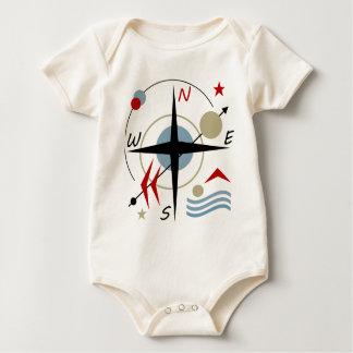 Compass 3 baby bodysuit