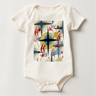 Compass 4 baby bodysuit