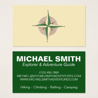 Compass Adventure Camp Camping Hiking Climbing Business Card