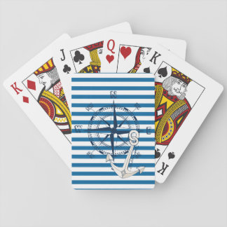 Compass and Anchor Blue and White Stripe Cards