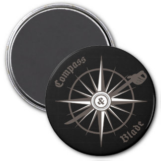 Compass and Blade Fridge Magnet