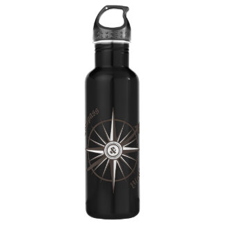 Compass and Blade Water Bottle