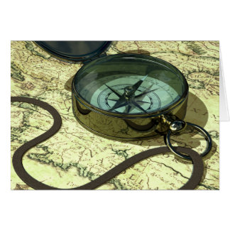 Compass and Map Card