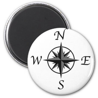 Compass Arrows 2 Inch Round Magnet