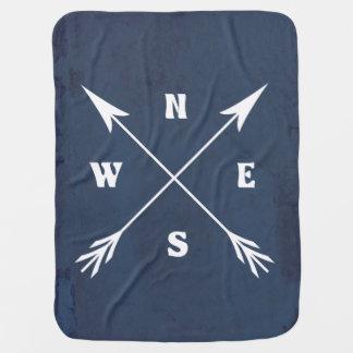 Compass arrows baby blanket
