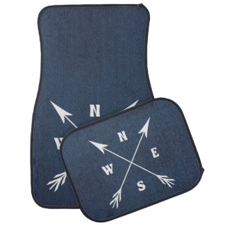 Compass arrows car mat