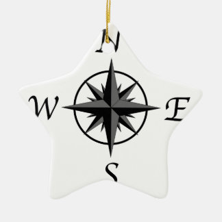 Compass Arrows Ceramic Star Ornament