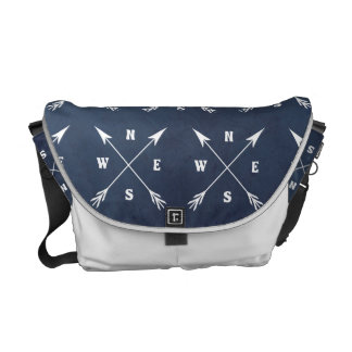Compass arrows commuter bag