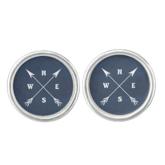 Compass arrows cuff links