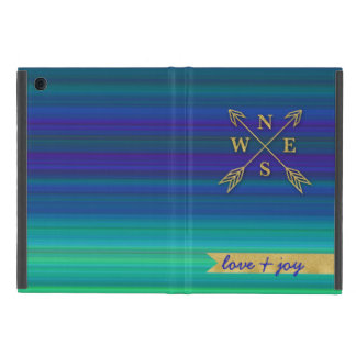 Compass Arrows Direction Gold Blue Green Love Joy Case For iPad Mini