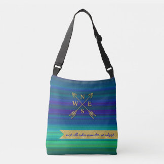Compass Arrows Direction Gold Travel Bag