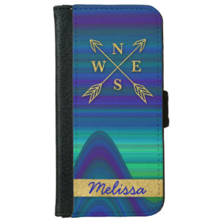 Compass Arrows Direction iPhone Case Blue Green