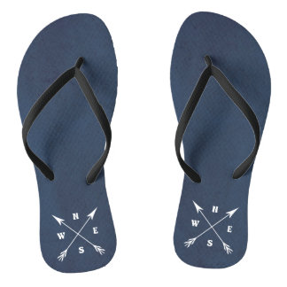 Compass arrows flip flops