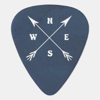 Compass arrows guitar pick