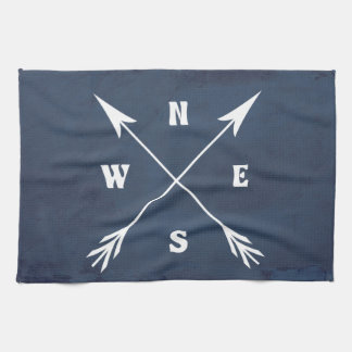 Compass arrows kitchen towel