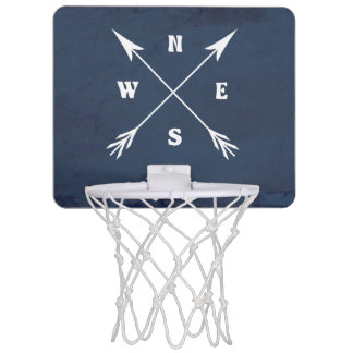 Compass arrows mini basketball hoop