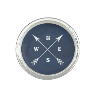 Compass arrows photo rings