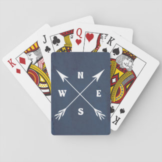 Compass arrows playing cards