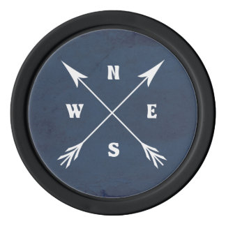 Compass arrows poker chips